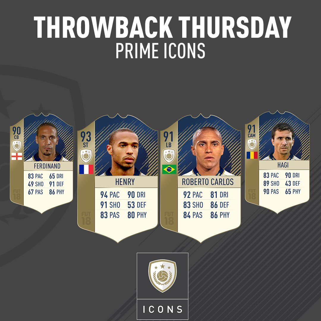 4 nouvelles icones disponibles sur FUT 18
