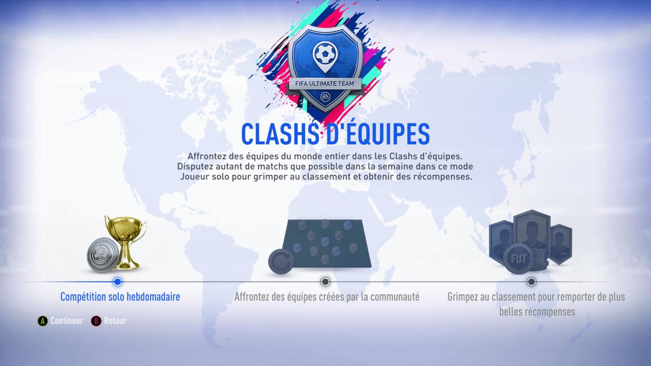 Les récompenses Clashs d'équipes sur FIFA 19 Ultimate Team