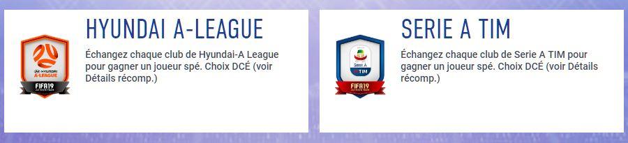 Les DCE Serie A TIM et Hyundai A-League sont disponibles