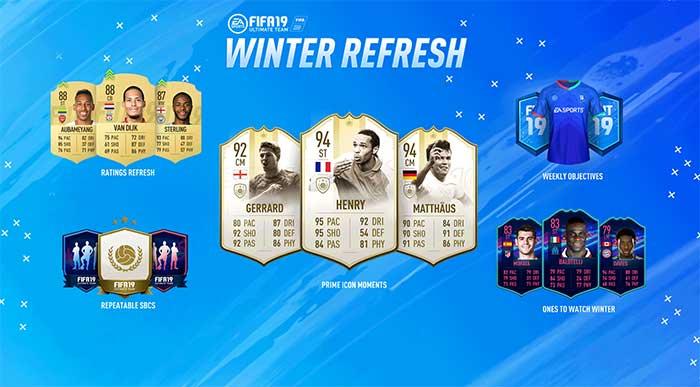 Mise à jour des notes et des étoiles sur FIFA 19