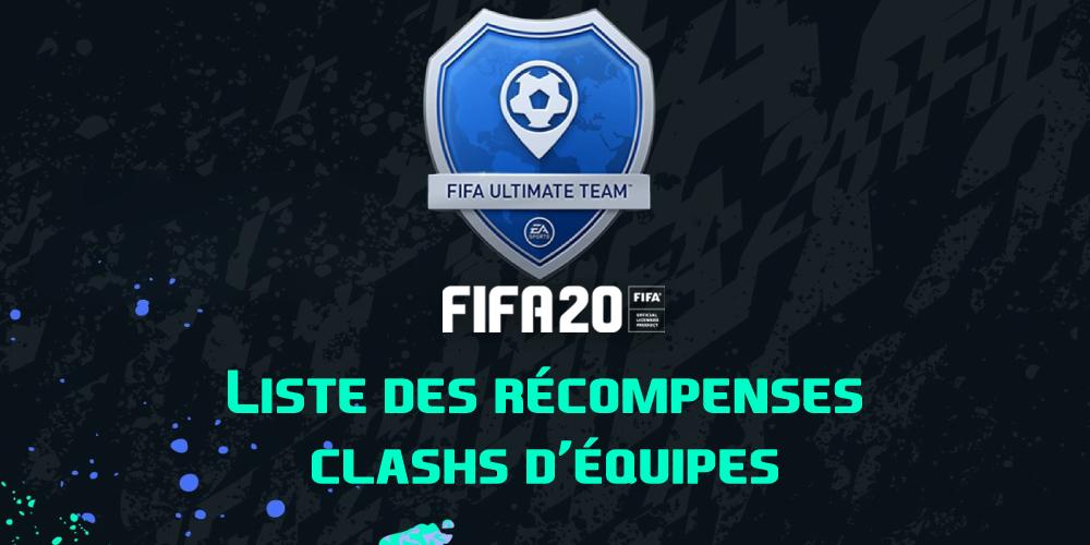 Les récompenses Clashs d'équipes sur FIFA 20