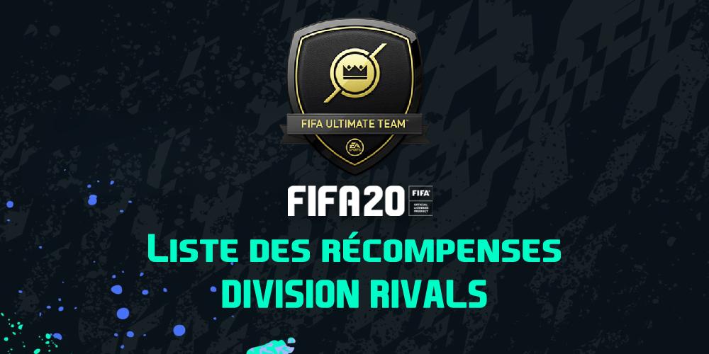 Les récompenses Division Rivals sur FIFA 20