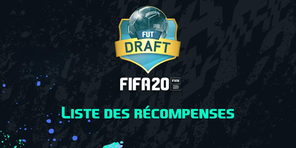 Les récompenses en Draft sur FIFA 20