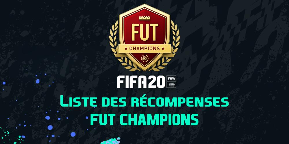 Les récompenses FUT Champions sur FIFA 20